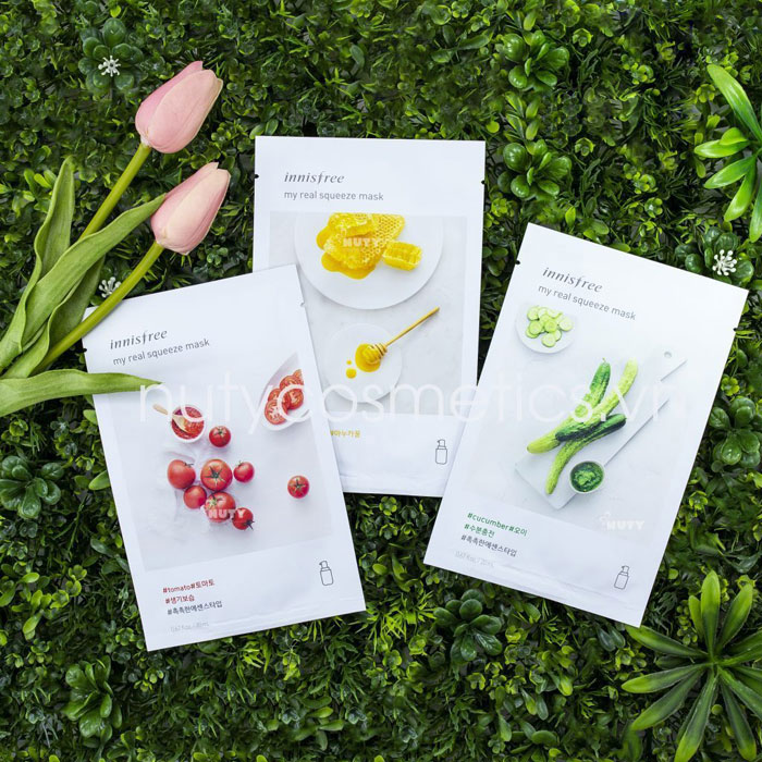 Mặt nạ dưỡng da Innisfree It's real squeeze mask